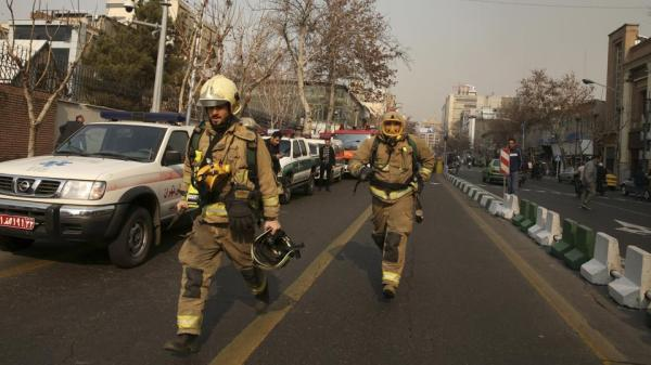 Fire and smoke: Tehran's oldest building collapses, many ...