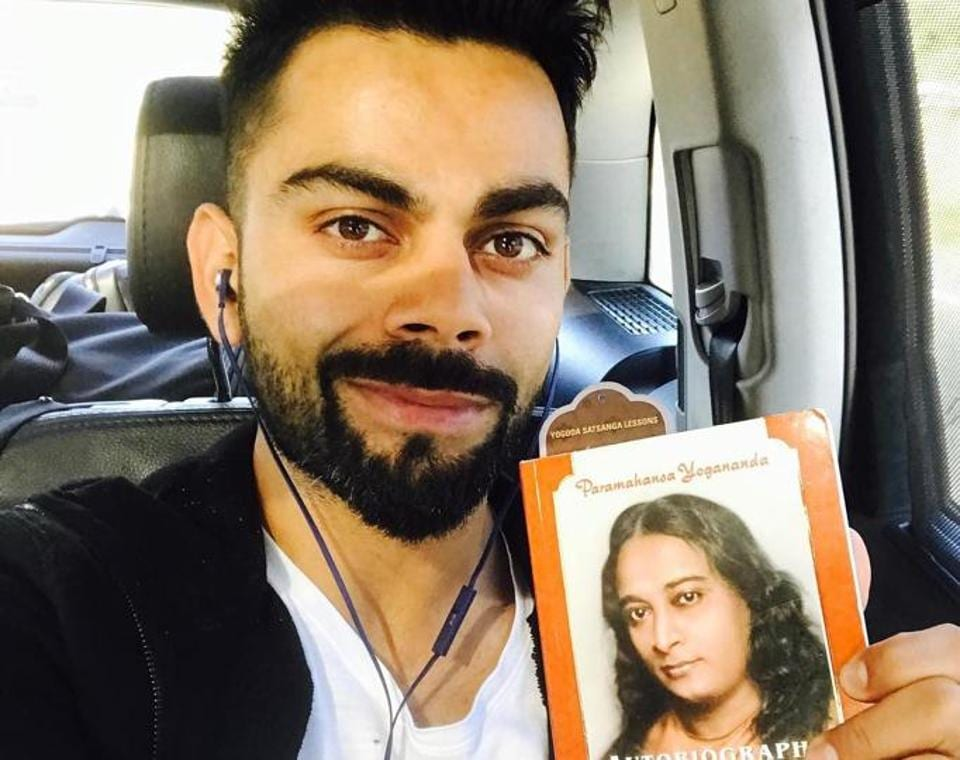 "Image result for Autobiography Of A Yogi"" virat kohli"