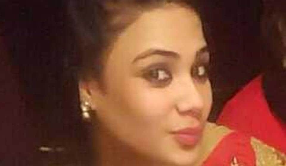Parvinder Kaur, 24, had told police while she was at the hospital that she was set on fire by her husband and in-laws.