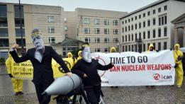 Image result for International Campaign to abolish Nuclear Weapons gets award