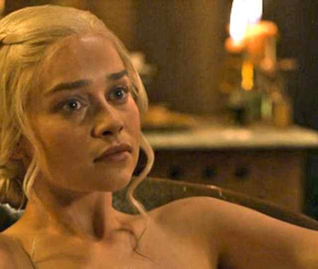 Emilia Clarke In A Still From Game Of Thrones