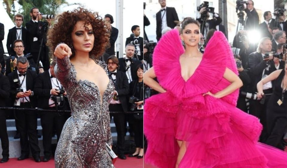 Deepika Padikone And Kangana Ranaut Walk The Red Carpet At Cannes Film Festival For The Second Time This Year