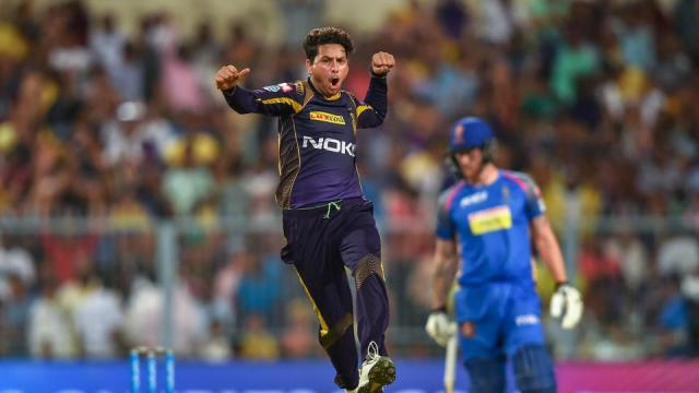 Kolkata Knight Riders kept their play-off hopes alive with a six-wicket win over Rajasthan Royals with Kuldeep Yadav coming back to form with a haul of 4/20.