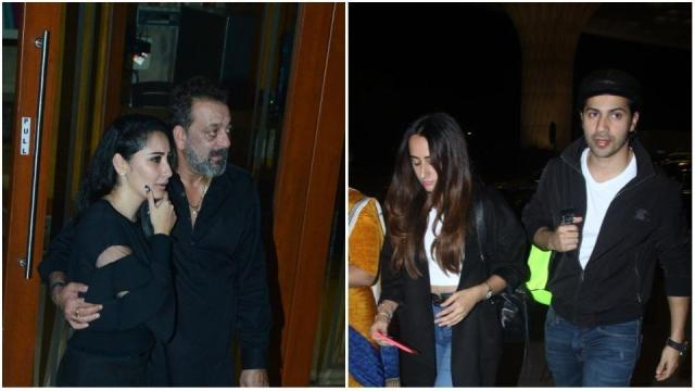 Image result for Sanjay Dutt celebrates birthday, Varun Dhawan leaves for vacation with girlfriend. See pics