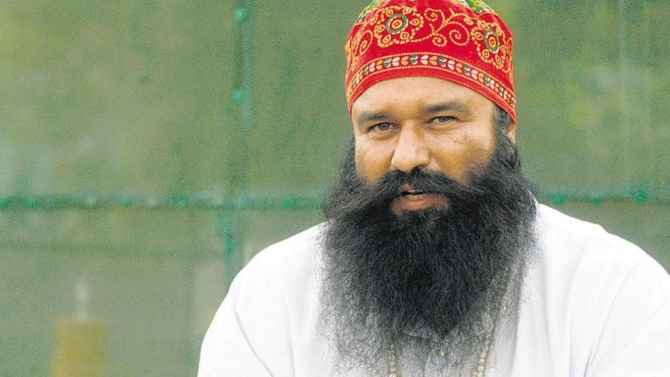 Image result for pic of ram rahim
