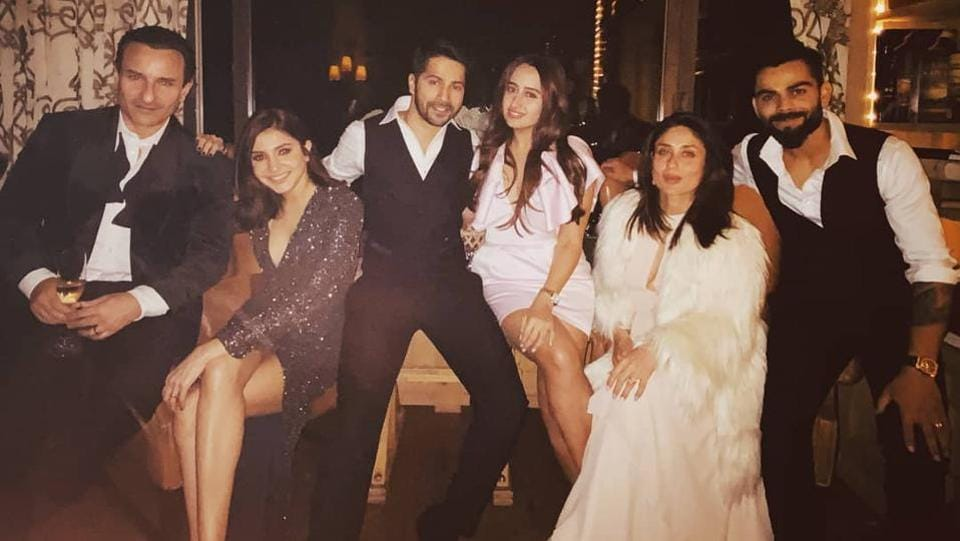 """Anushka Sharma shared a photo on her Instagram along with Virat Kohli, Saif and Kareena. Sitting in between are Varun Dhawan and Natasha Dalal. The stars pose happily with a smile on their faces as Anushka captioned: """"Happy New Year"""". And we have to say, this seems to be a very stylish beginning to the year.Here's a look at this week's best and worst dressed celebrities.  (INSTAGRAM)"""