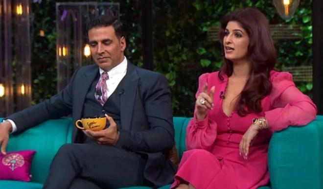 Twinkle Khanna flaunted her huge diamond ring on Koffee With Karan.