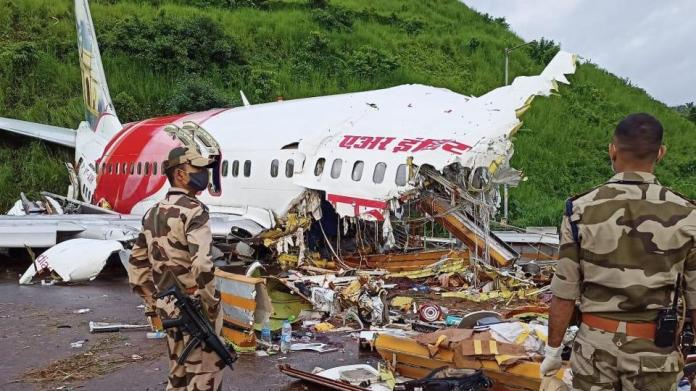 At least 18 passengers including both the pilots were killed after the flight carrying 190 people on board including 10 children skidded while landing at the Kozhikode international airport on Friday.