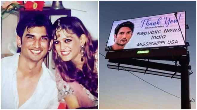 Shweta Singh Kirti had been sharing photos of billboards featuring Sushant Singh Rajput.