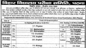 2021 inter-BSEB exam dates: Bihar Council issues revised date sheet for 12th class exams – Education