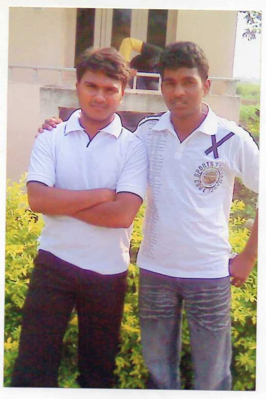 Riyaz with his friend Rohith. (Photo provided by Sheikh Riyaz)