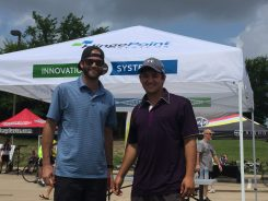 Johnny Stromp (right) Brendan Desjardins (left) both of Hingepoint team.