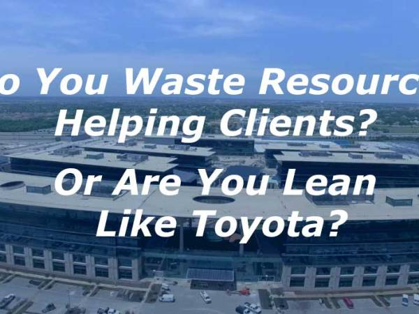 Are You Lean Like Toyota, or Do You Waste Resources?