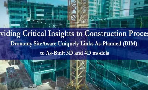 Dronomy's SiteAware Links Drone Data to Revit Models, Transforming Construction Sites with Drones