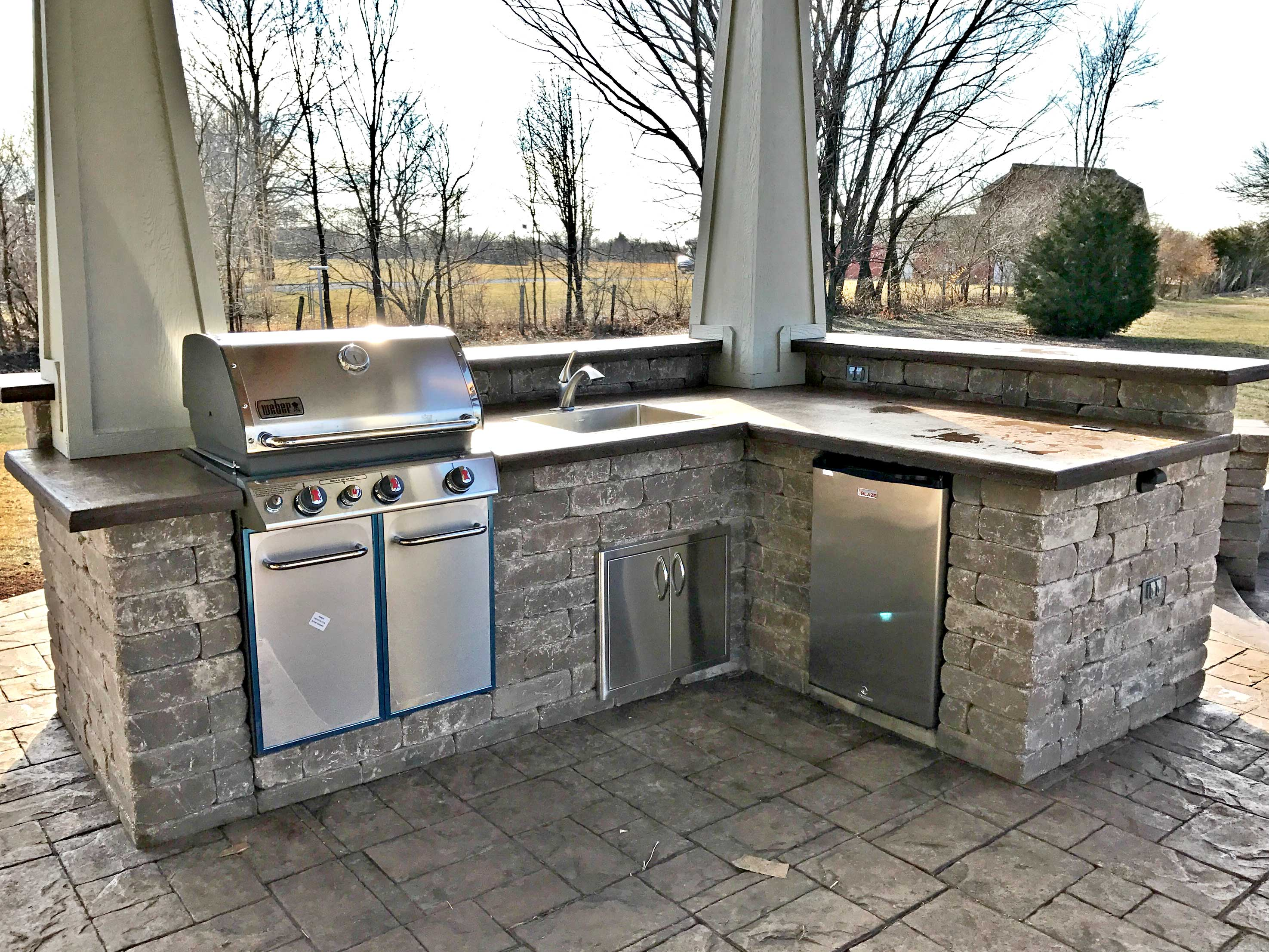 Stamped Concrete Kansas City Patios Hardscaping Fire Pits ... on Patio Grill Station  id=44737