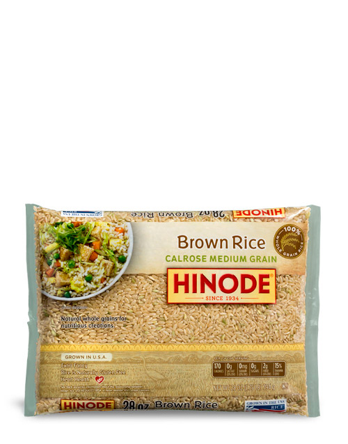 an image of the Calrose Brown Rice 28oz bag