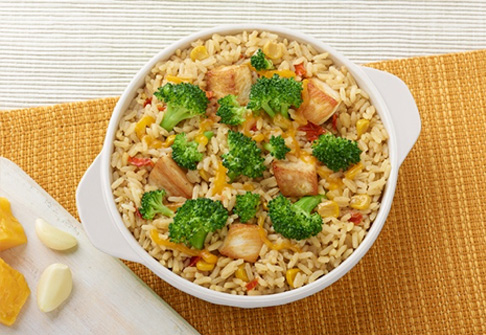 image of chicken broccoli rice bake