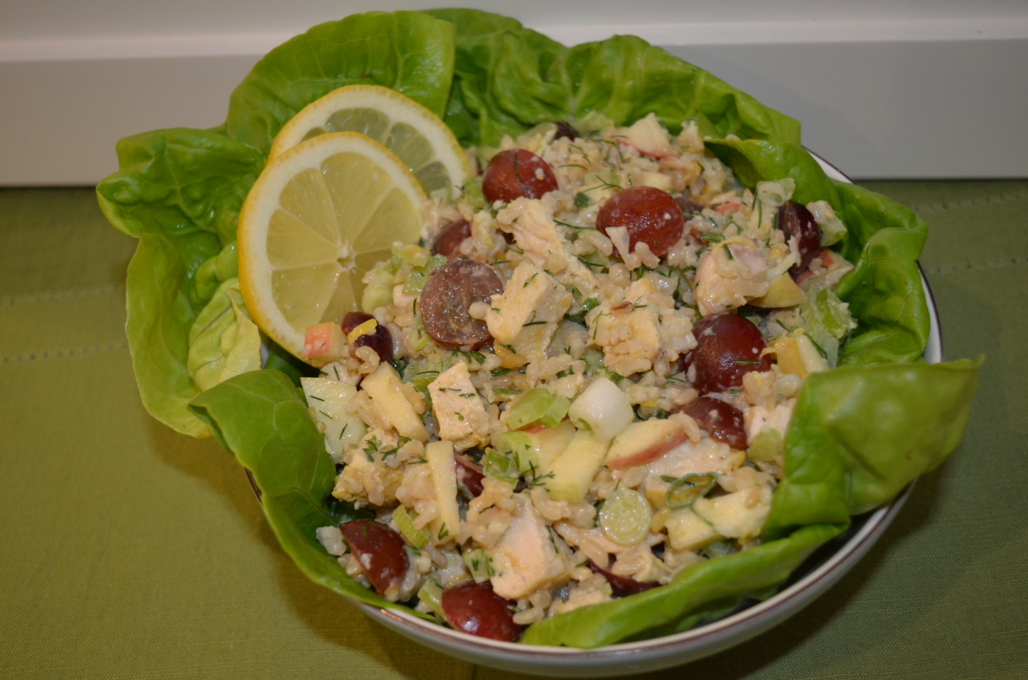 Hinode rice: Brown Rice and Chicken Waldorf Salad