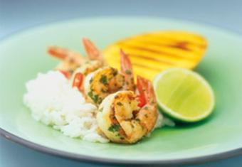 Hinode rice: Cajun King Prawns with Rice recipe