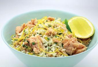 Hinode rice: Tuna Rice Tabouli recipe