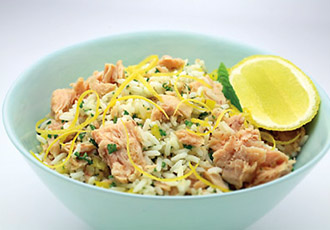Hinode Rice with tuna and lemon zest