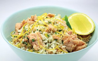 Hinode Rice with tuna and lemon zest