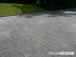 Lavastone tiles using for driveway and outdoor footpath terrace