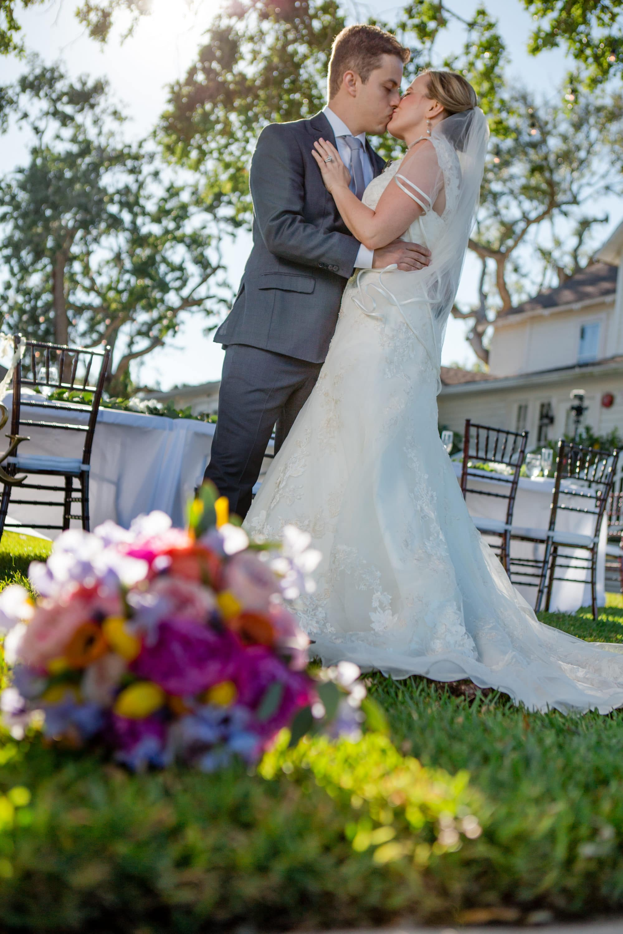 Wedding photography in new Smyrna Beach on riverside drive