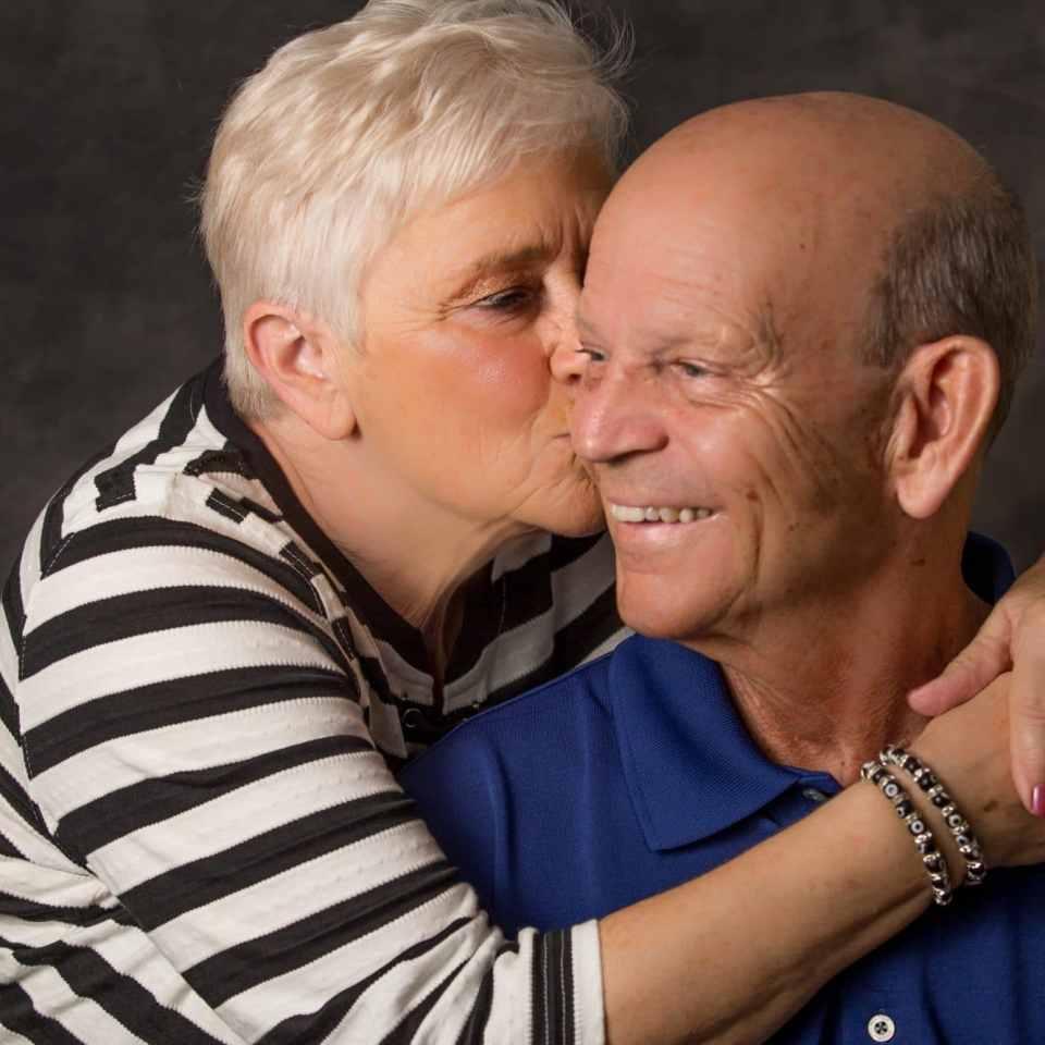 Studio portrait taken by New Smyrna Beach Photographer to celebrate a couple's 50th anniversary