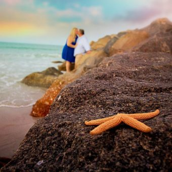 starfish beach photo, starfish, beach photography, florida beach photography, florida destination wedding, florida engagement session, florida proposal, orlando beach photography