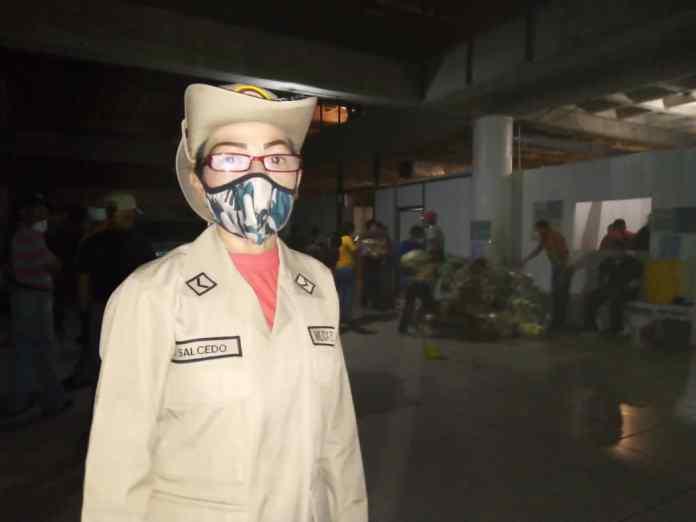 Libia Salcedo, sargento segundo de la Milicia Bolivariana