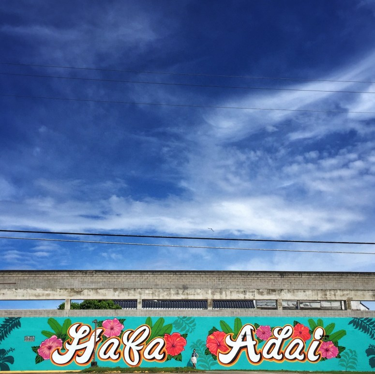 Hafa Adai by Opake Guam. Part of Jamae's mural hunt on Guam. | Hint of Jam