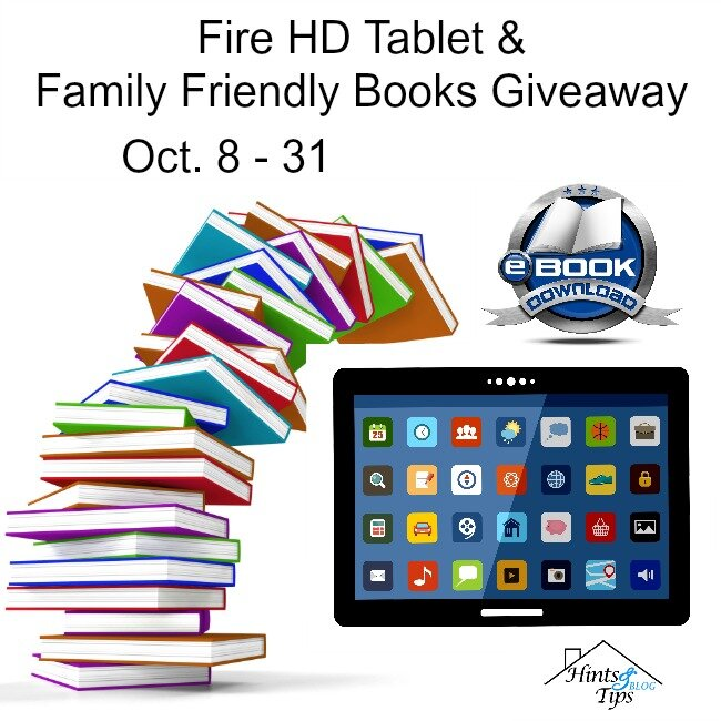 Fire HD Tablet and Family Friendly Books Giveaway ends 10-31