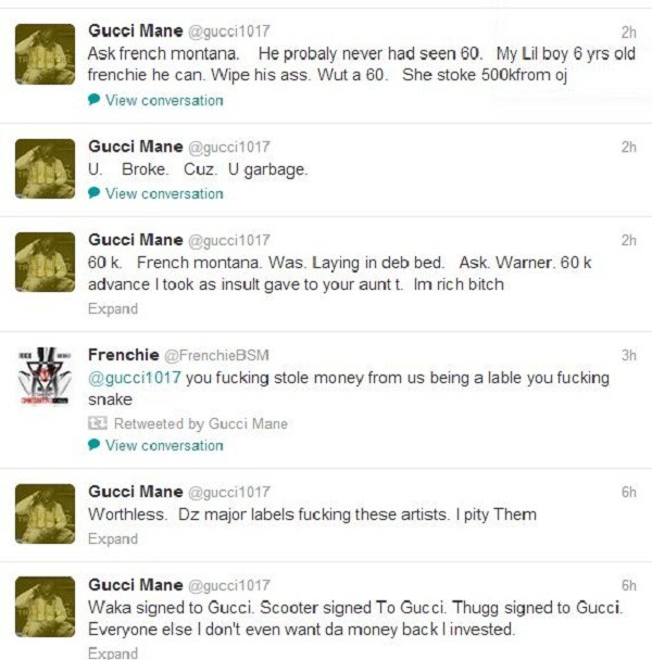 Gucci Mane sounds off on Waka Flocka Flame again on ...