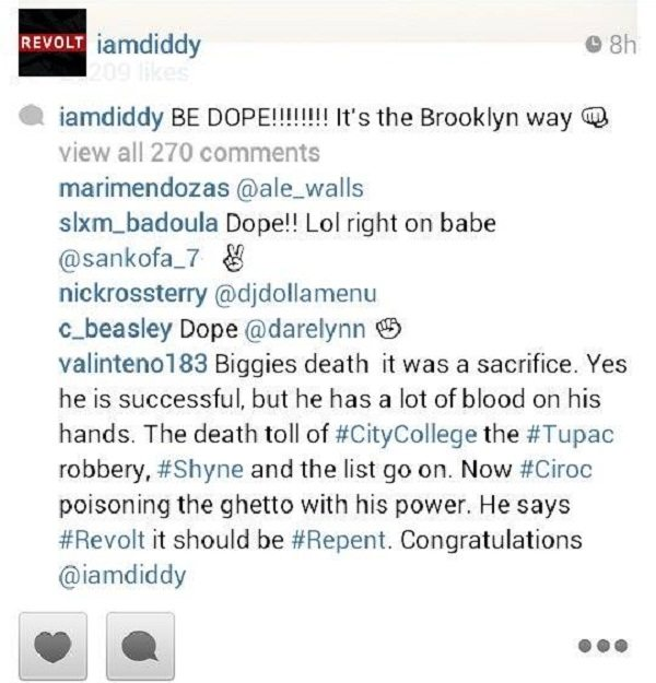 Diddy IG hater