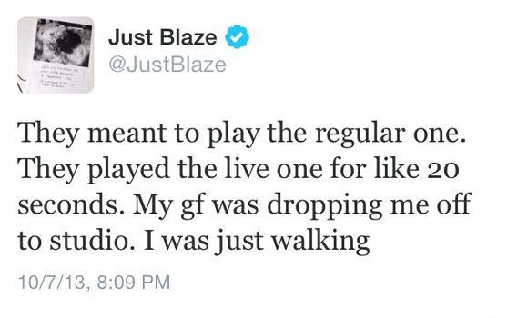 Just Blaze tweet 2