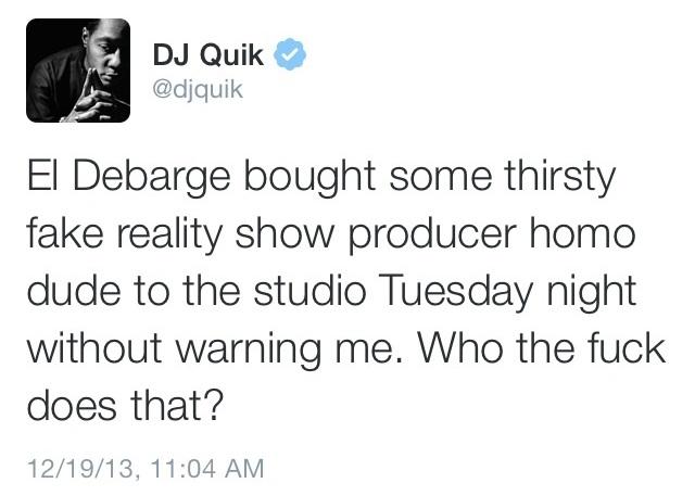 DJ Quik tweet El DeBarge