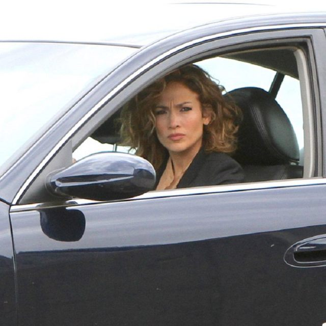 Jennifer Lopez at the 'Shades of Blue' set in Brooklyn, NYC