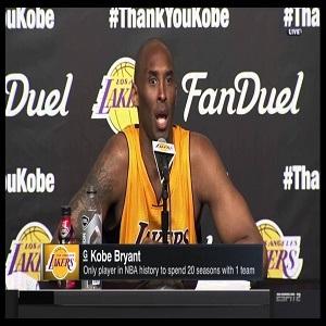 Kobe Bryant postgame interview