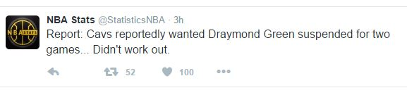 Draymondsuspensiontweet