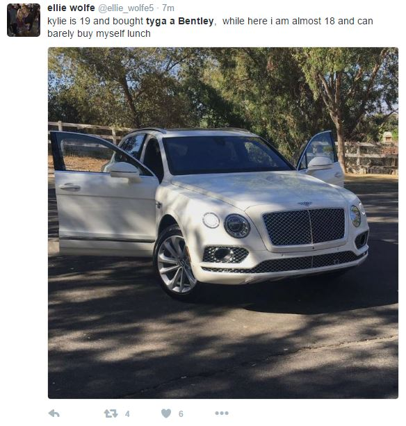 Tyga A Bentley: Twitter Reacts To Video Of Kylie Jenner