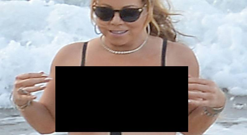 topless Mariah carey