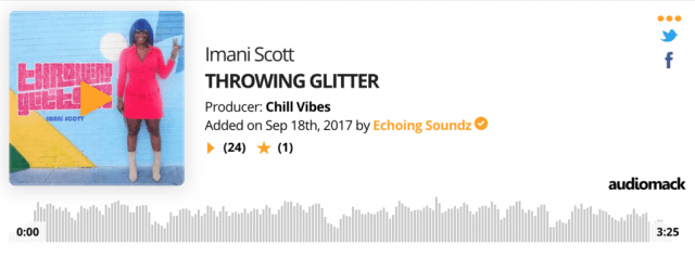 Imani Scott Throwing Glitter