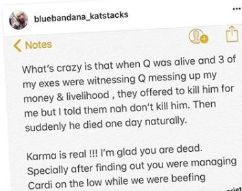Kat Stacks posts on IG, saying Q from Worldstar was secretly