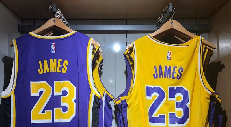 21e585143e686 LeBron James' Laker jersey made its debut, this morning #Lakers #LakeShow  [PHOTO]