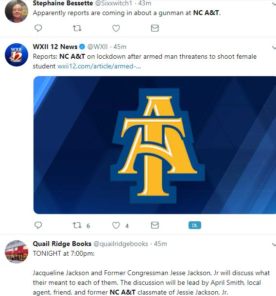 NC A&T is on lockdown after a man threatened a female