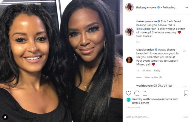 "Kenya Moore posts pic with ex-""Real Housewives of Atlanta"" cast-mate"