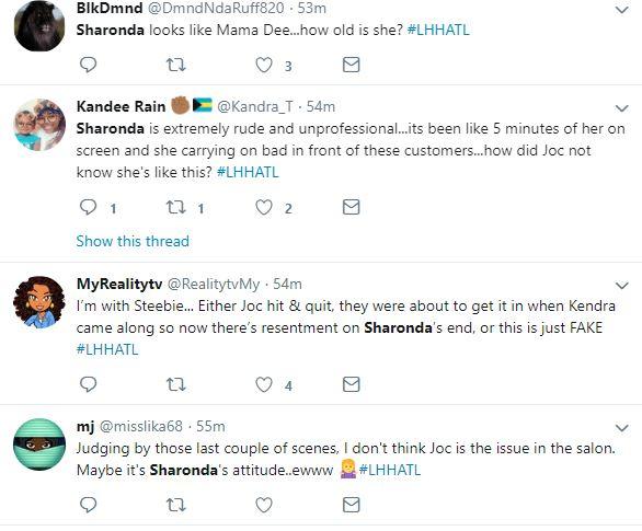 Sharonda is the problem, says Twitter, blaming unprofessional