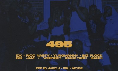 "IDK and YungManny join forces for their new single, ""495,"" which features Rico Nasty, Big Flock, Big JAM, and Weensey."