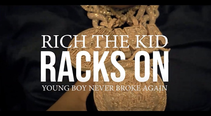 "Rich The Kid releases music video for single, ""Racks On,"" featuring Youngboy Never Broke Again, better known as NBA Youngboy."